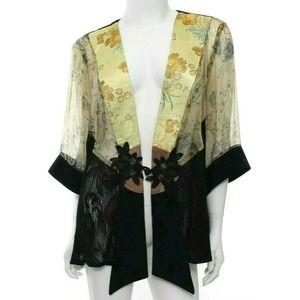 Spencer Alexis Kimono Top Blouse Floral Asian Lace